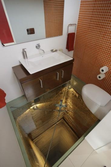 Bathroom Atop Of A 15 Story Elevator Shaft
