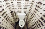 Vertigo Bathroom For Those Who Don't Afraid Of Heights