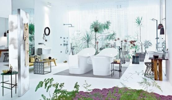 Modern Designer's Bahtroom (via hansgrohe-int)