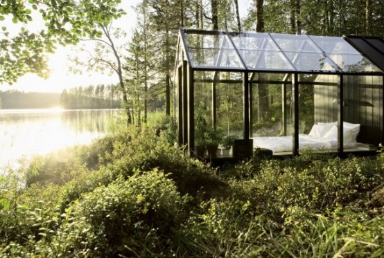 Transparent Garden Shed Bedroom (via architizer)