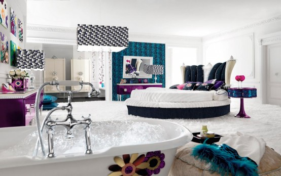 Really Glamour Bedroom (via Digsdigs)