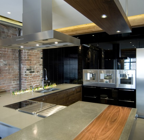 Bachelor Apartment Kitchen Design: Ultimate Bachelor Loft In A Remodeled Warehouse