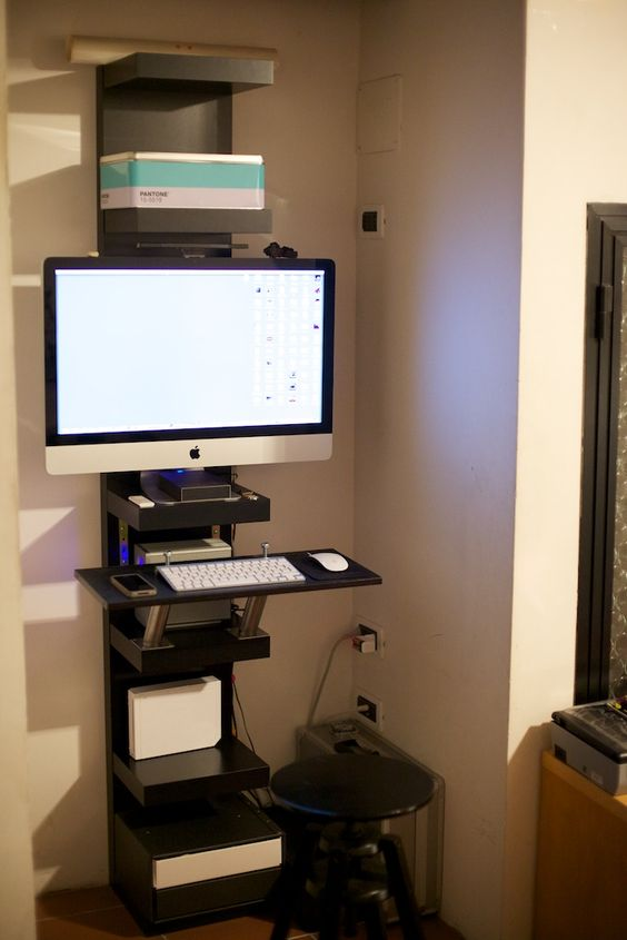 IKEA Dalfred stoo for a home office corner