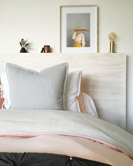 neutral and soft colored basement bedroom