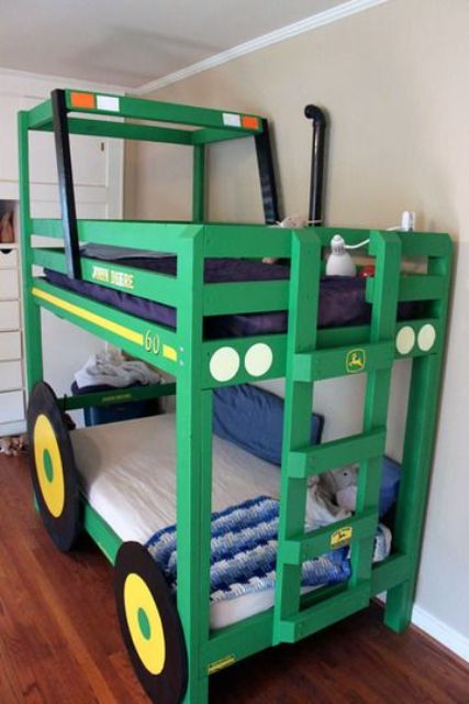 a tractor kid bed