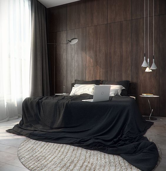 minimalist black bedding