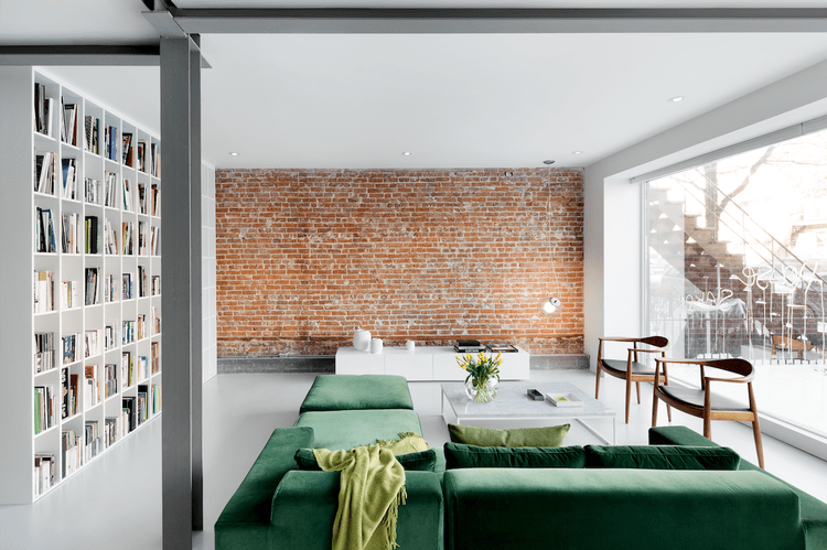 130-Year-Old Minimalist Apartment Renovation With Industrial Features
