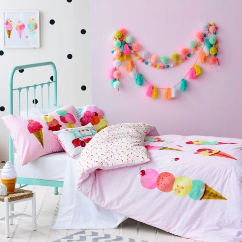 Popular bold ice cream print bedding