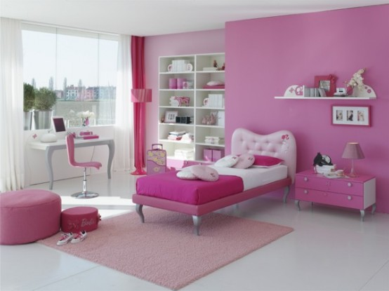 15 Cool Ideas for pink girls bedrooms 15