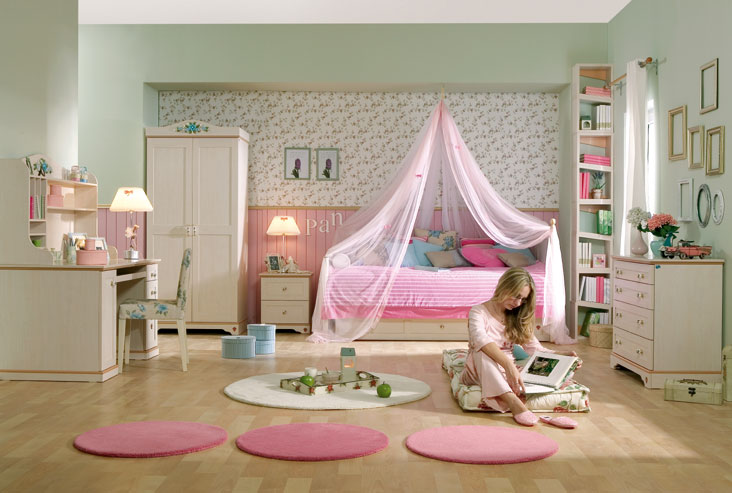 15 cool ideas for pink girls bedrooms digsdigs for Bedroom ideas for girls