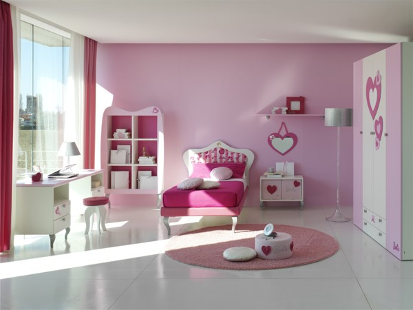 15 cool ideas for pink girls bedrooms digsdigs - Girls bed room ...