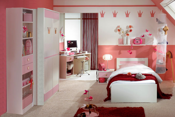 15 cool ideas for pink girls bedrooms digsdigs. Black Bedroom Furniture Sets. Home Design Ideas