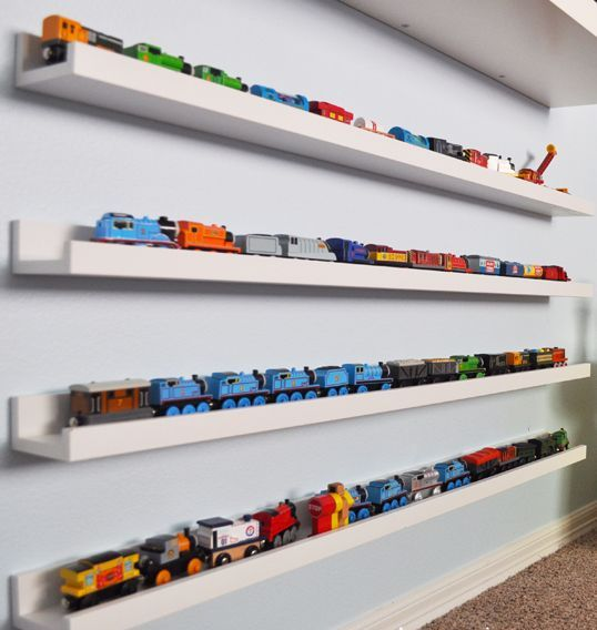 29 ideas to use ikea ribba ledges around the house digsdigs - Toy shelves ikea ...