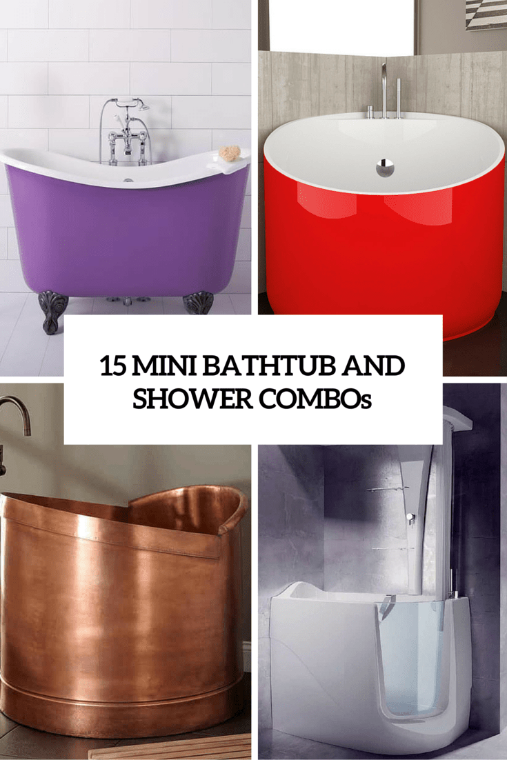 15 mini bathtub and shower combos for small bathrooms digsdigs - Bathtub small space concept ...