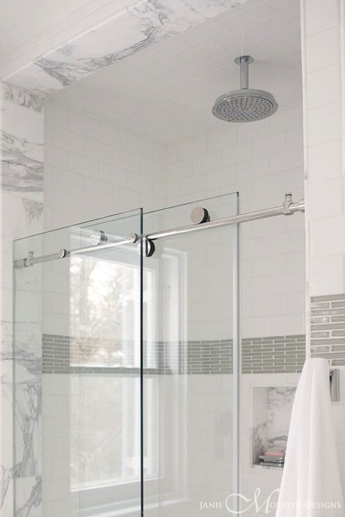 Marvelous contrasting shower border tiles