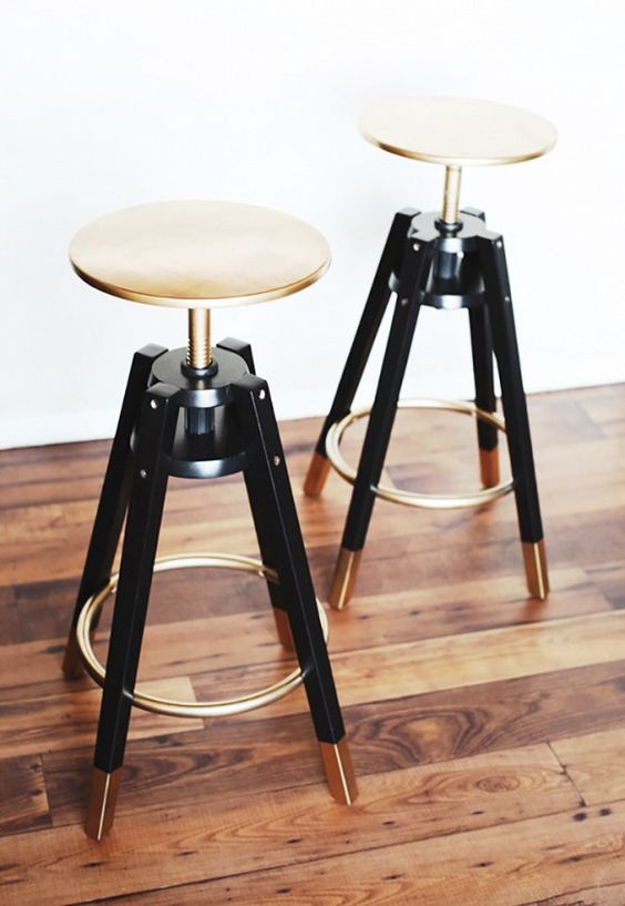 chic gilded Dalfred bar stool