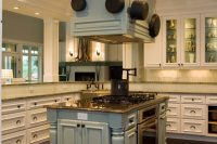 16 kitchen island with a cooker and oven