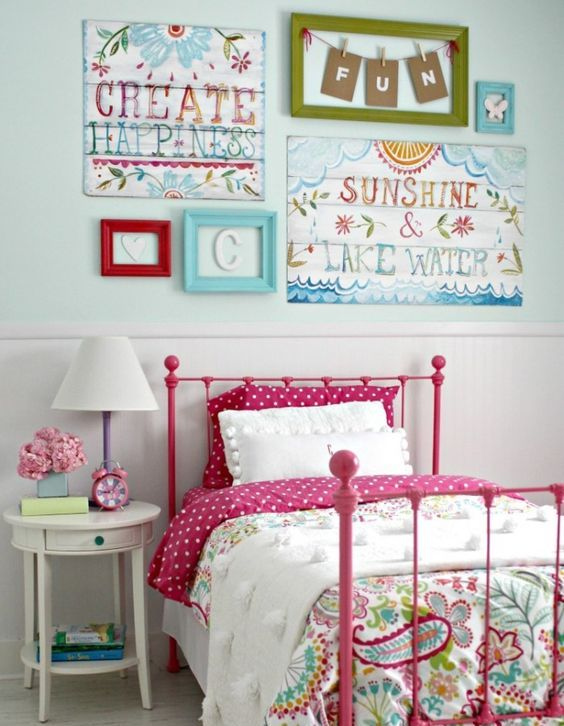 colorful pattern bedding
