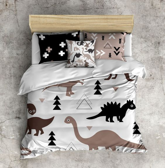 dino and geometric bedding