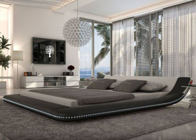 large platform bed