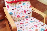18 Poang chair reupholstered for a nursery