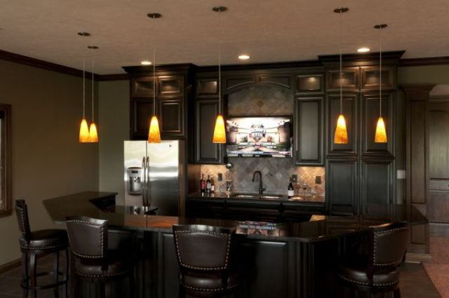 dark basement bar for relaxation