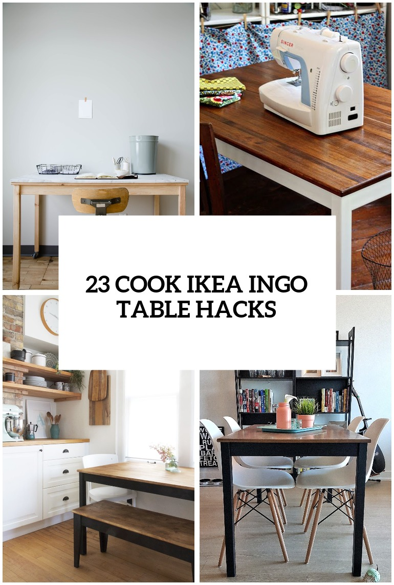 Surprising 23 Cool Ikea Ingo Table Ideas And Hacks Youll Love Digsdigs Download Free Architecture Designs Lukepmadebymaigaardcom