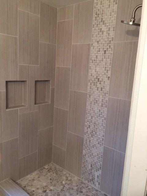 Vertical tile bathroom