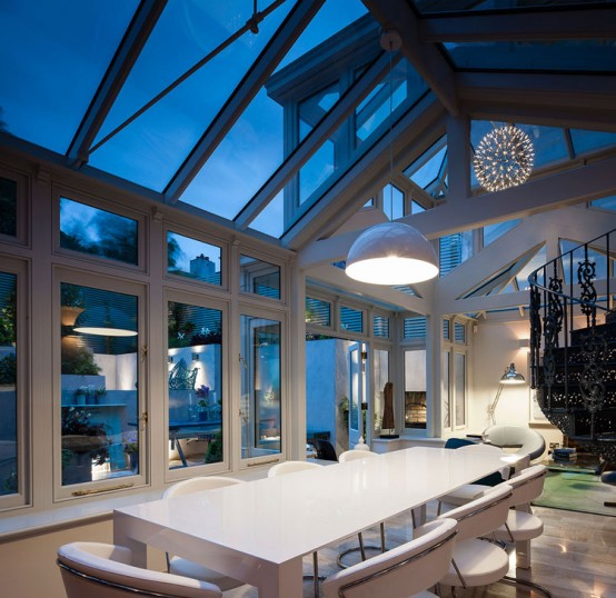 18th century conservatory turned into a modern home digsdigs for Conservatory interior designs