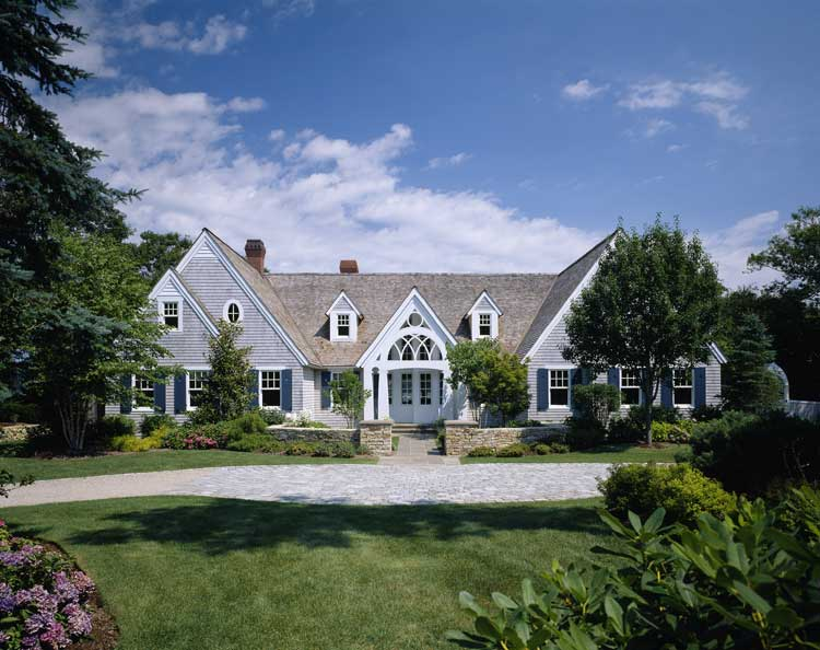 19th century cottage renovated in american shingle style
