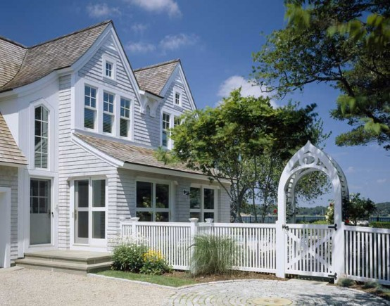 19th Century House Renovated Into American Shingle Style Cottage