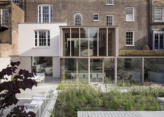 19th Century London House Restored In A Modern One
