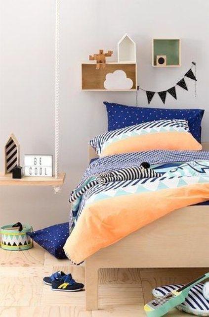 bold print bedding