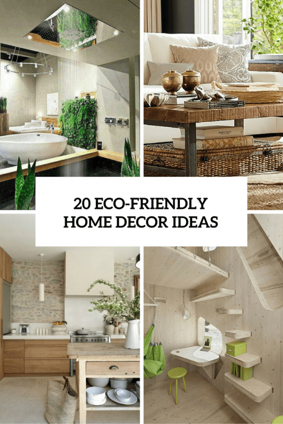 20 Eco Friendly Home Decor Ideas Cover