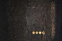20 glimmering black mosaic tiles