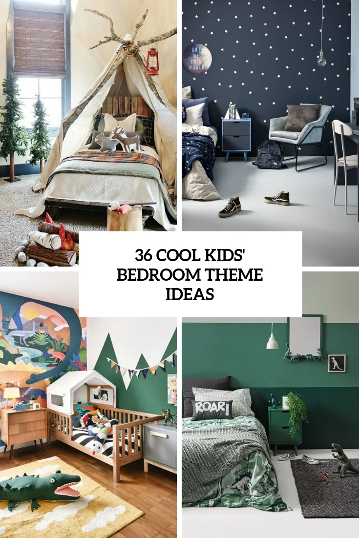 36 Cool Kids Bedroom Theme Ideas
