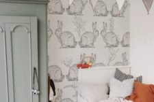 a lovely and soothing bunny-themed nursery with pastel touches will be nice both for boys and girls