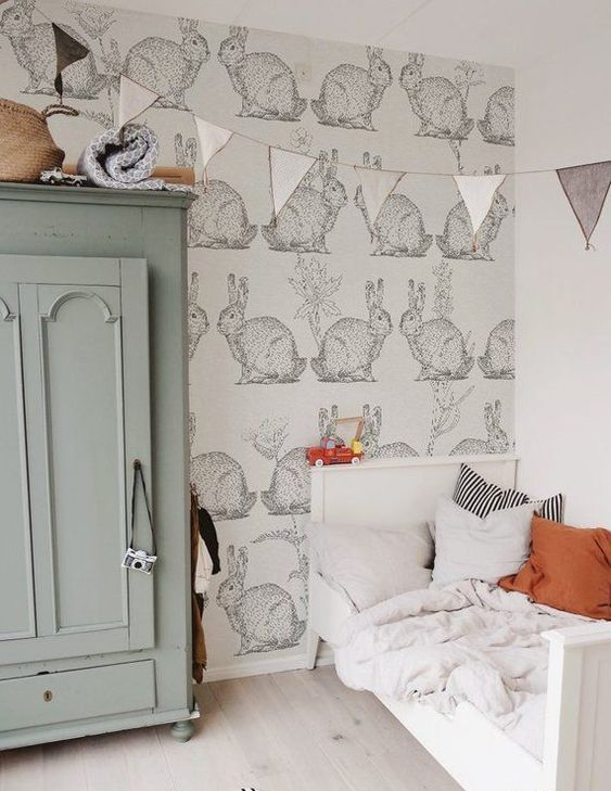 a lovely and soothing bunny themed nursery with pastel touches will be nice both for boys and girls