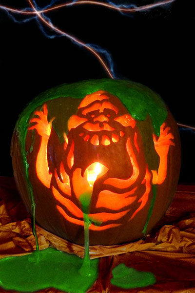 125 halloween pumpkin carving ideas digsdigs slimer from ghostbusters movie pronofoot35fo Image collections
