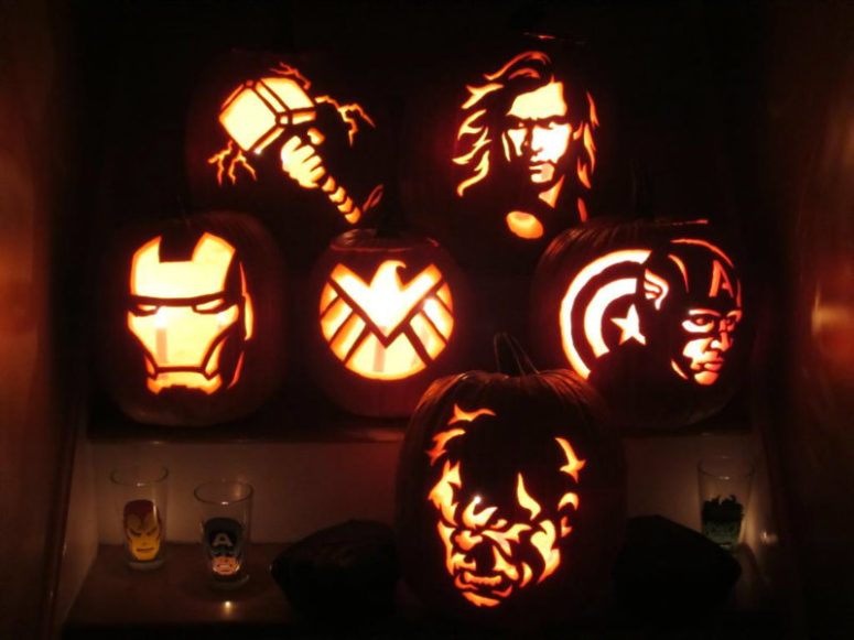 Carvings inspired by Marvel movies!