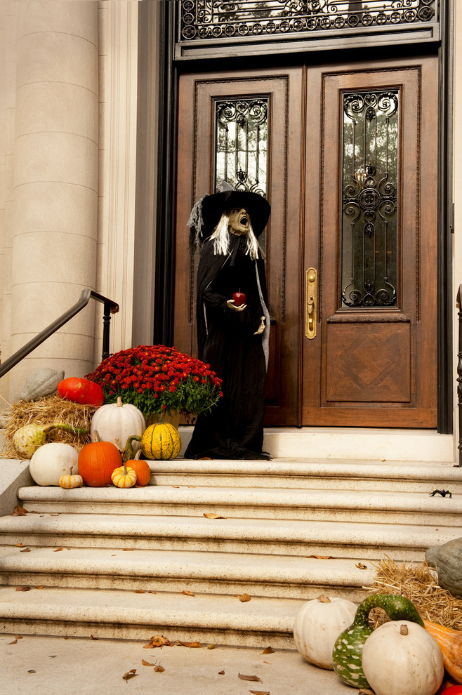 A full-size witch figure would definitely become a great addition to any front porch's decor.