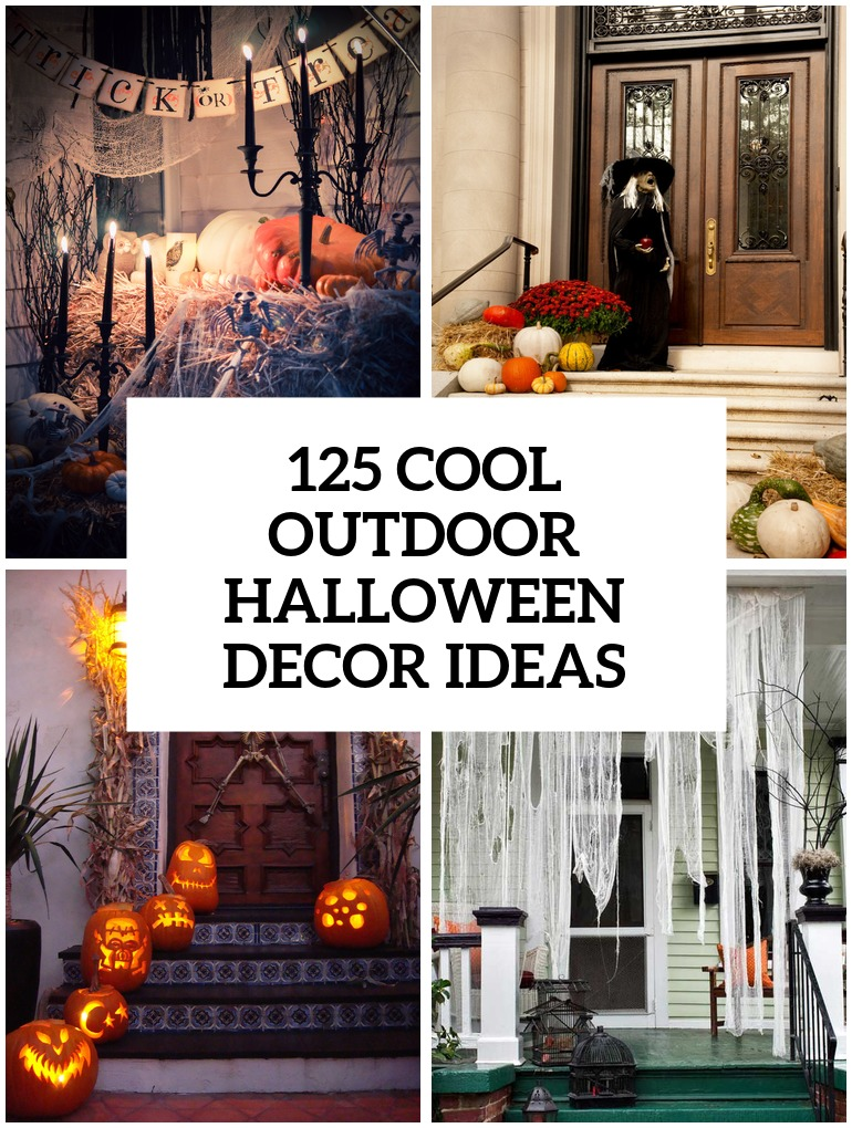 125 cool outdoor halloween decorating ideas digsdigs. Black Bedroom Furniture Sets. Home Design Ideas