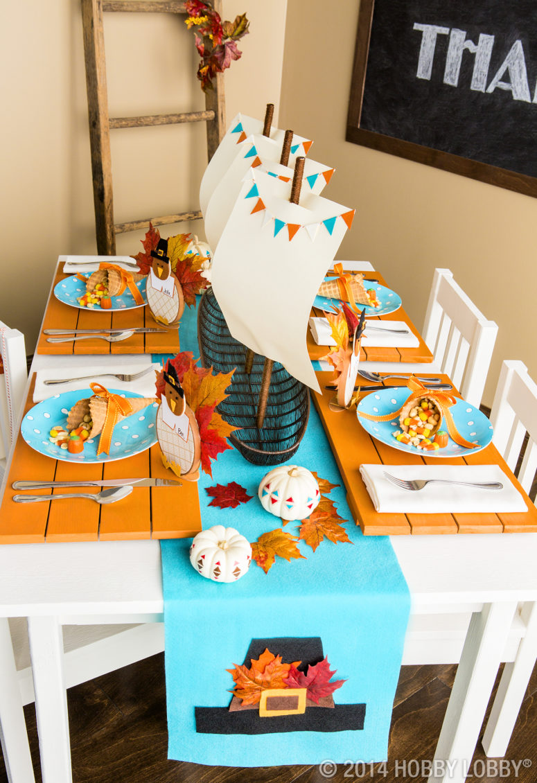 If You Re Having A Kid S Party On Thanksgiving Then Should Make Your Tablescape
