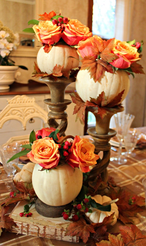 55 beautiful thanksgiving table decor ideas digsdigs Thanksgiving table decorations homemade