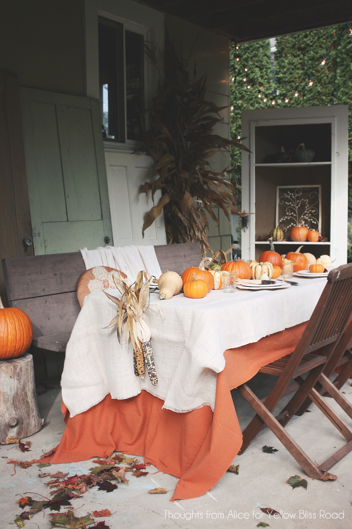 Patio might be a great place for an outdoor Thanksgiving  gathering.