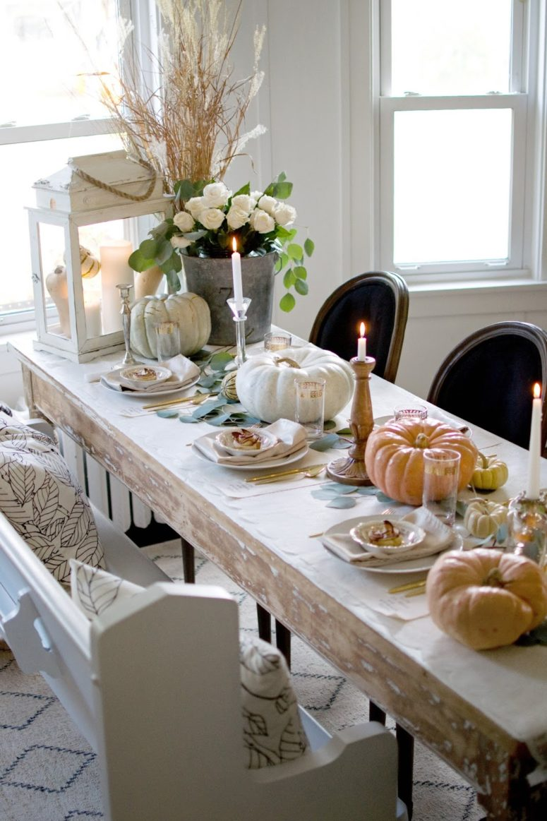 55 beautiful thanksgiving table decor ideas digsdigs for Beautiful dining table centerpieces