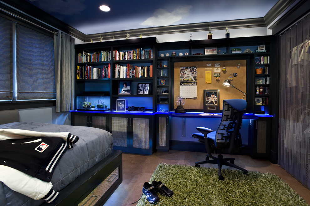 ... Coolest Teenage Rooms  If your kid into video games, built-in lighting  is one of those things