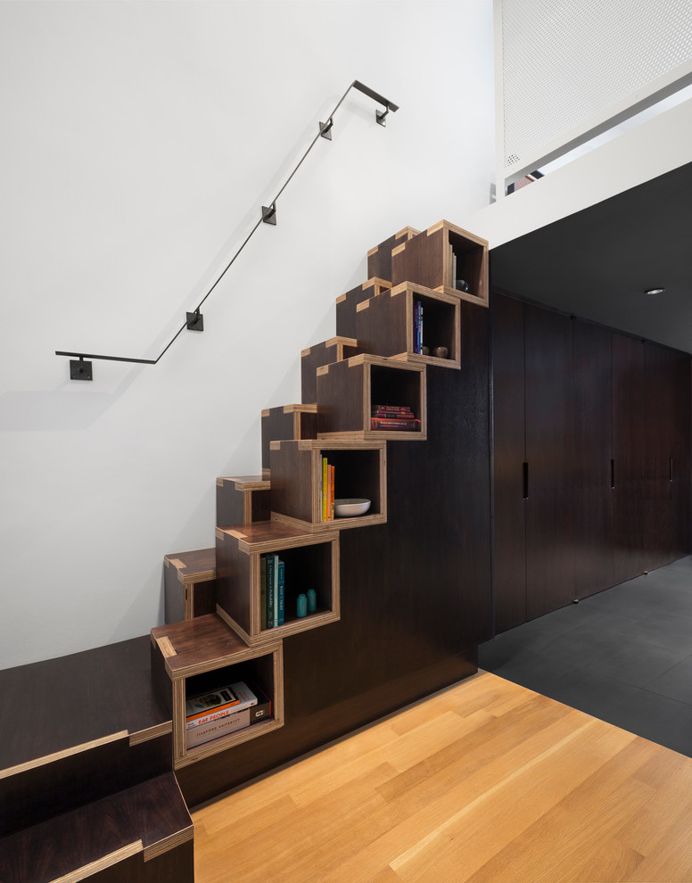 605faaa67a Simple cubbies could become your stairs. Cute and practical!
