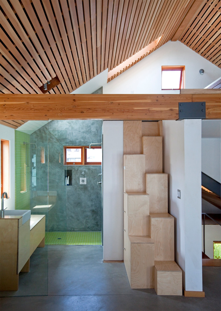 That's how you could design a staircase that will occupy less space than a storage unit.