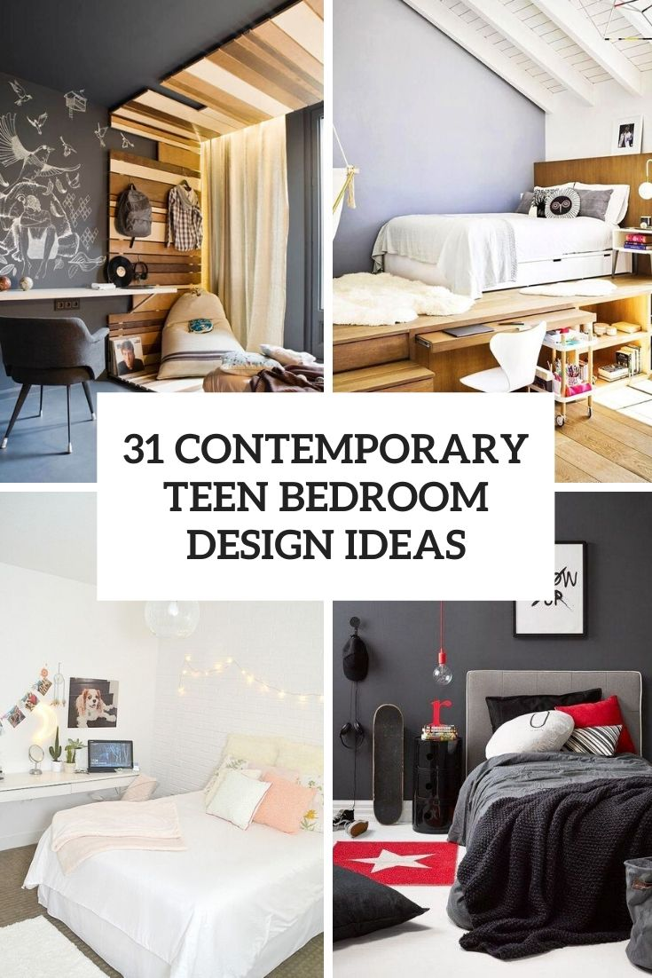 31 Contemporary Teen Bedroom Design Ideas